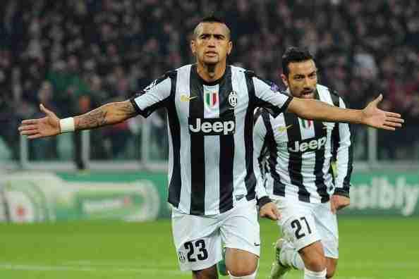 Arturo Vidal celebra gol Juventus