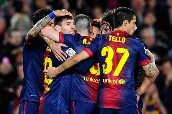 Barcelona celebra gol