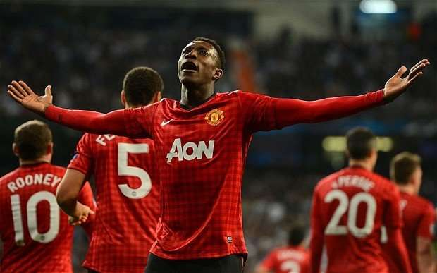 Danny Welbeck celebra gol Manchester United