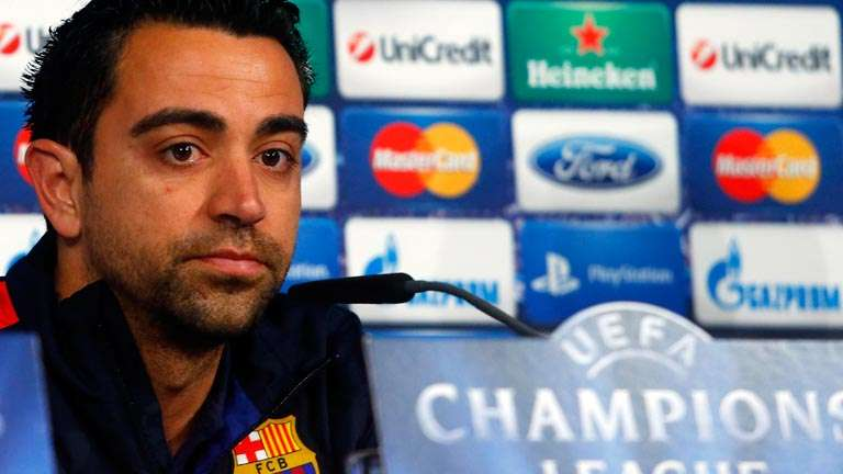 Xavi Hernández rueda de prensa Champions League
