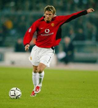 David Beckham falta Manchester United