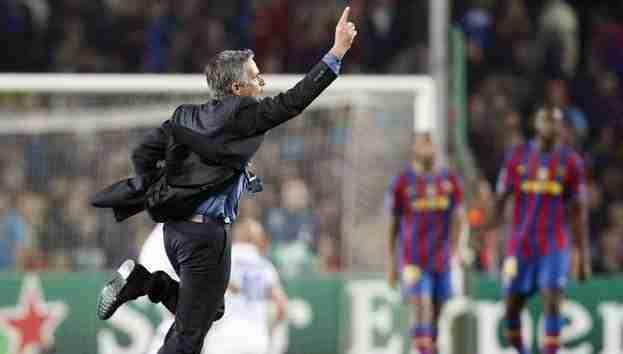 Mourinho celebra clasificación Inter Milán