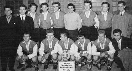 Stade de Reims subcampeón de Europa en 1956