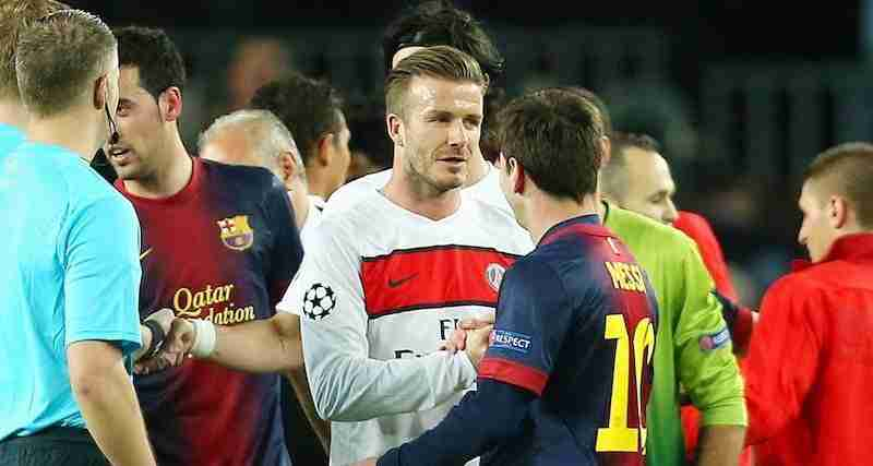 David Beckham saluda a Messi