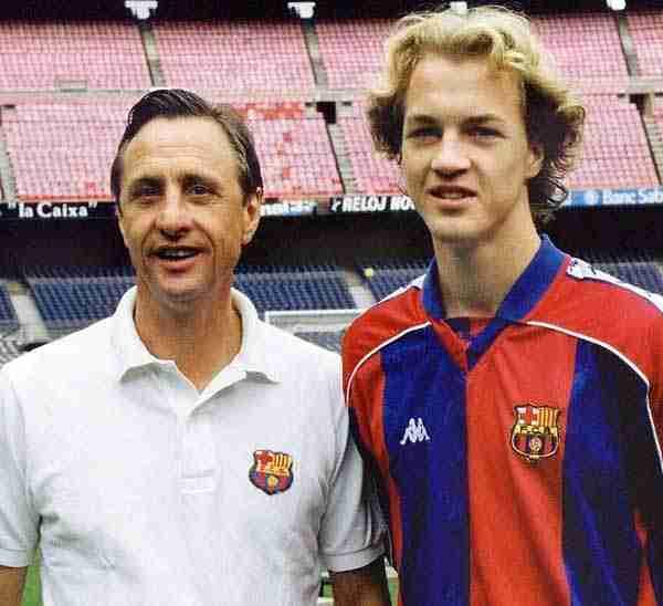 Johan Cruyff y su hijo Jordi
