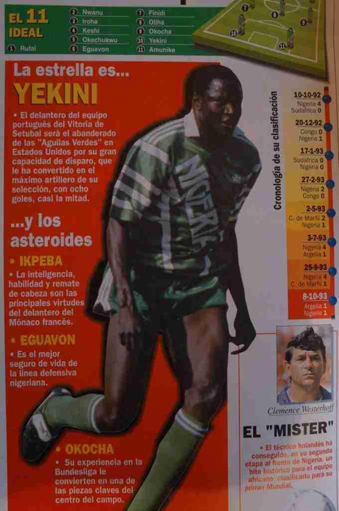 Selección de Nigeria que participó en el Mundial de Francia de 1998