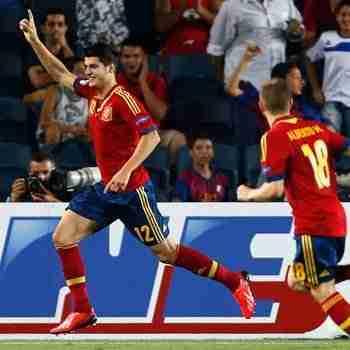 Morata celebra gol España
