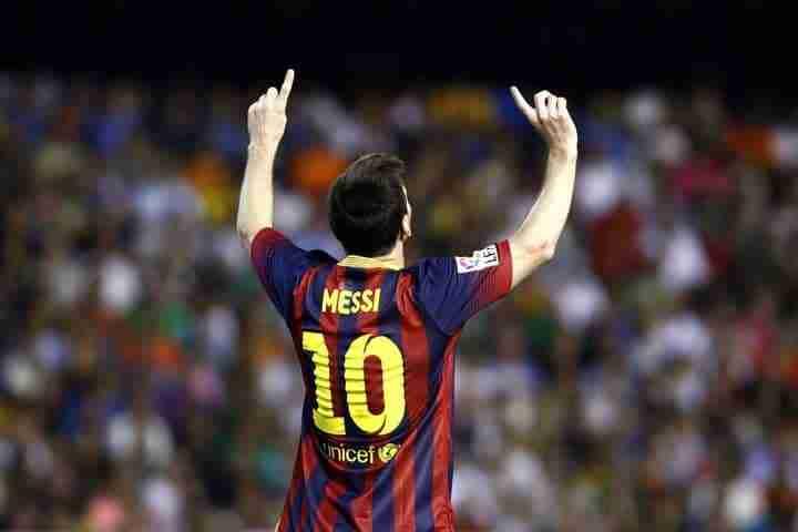 Lionel Messi celebra gol