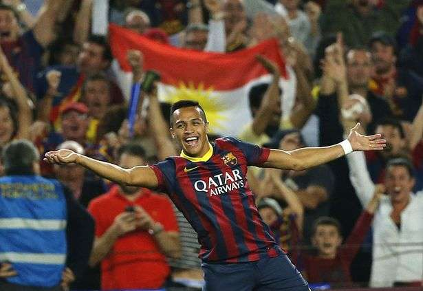 Alexis Sánchez celebra gol contra Madrid