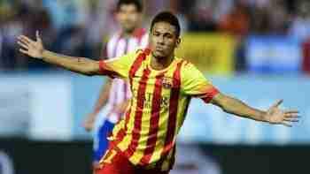 Neymar celebra gol Atlético de Madrid