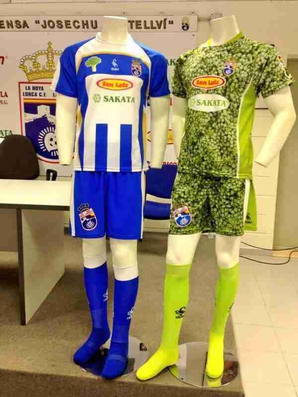 Primera y segunda equipación de La Hoya Lorca C.F para la temporada 2013/2014