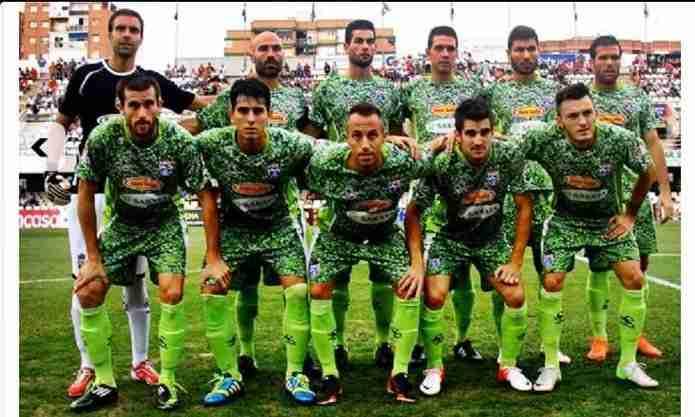 Once inicial de La Hoya Lorca C.F. con la segunda equipación