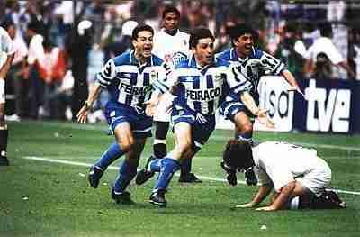 Alfredo celebra el gol Copa del Rey Súper Depor