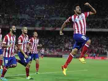 Diego Costa celebra gol Atlético de Madrid