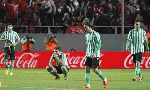 Los jugadores del Real Betis tristes