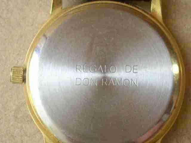 Reloj regalo de Don Ramón Mendoza