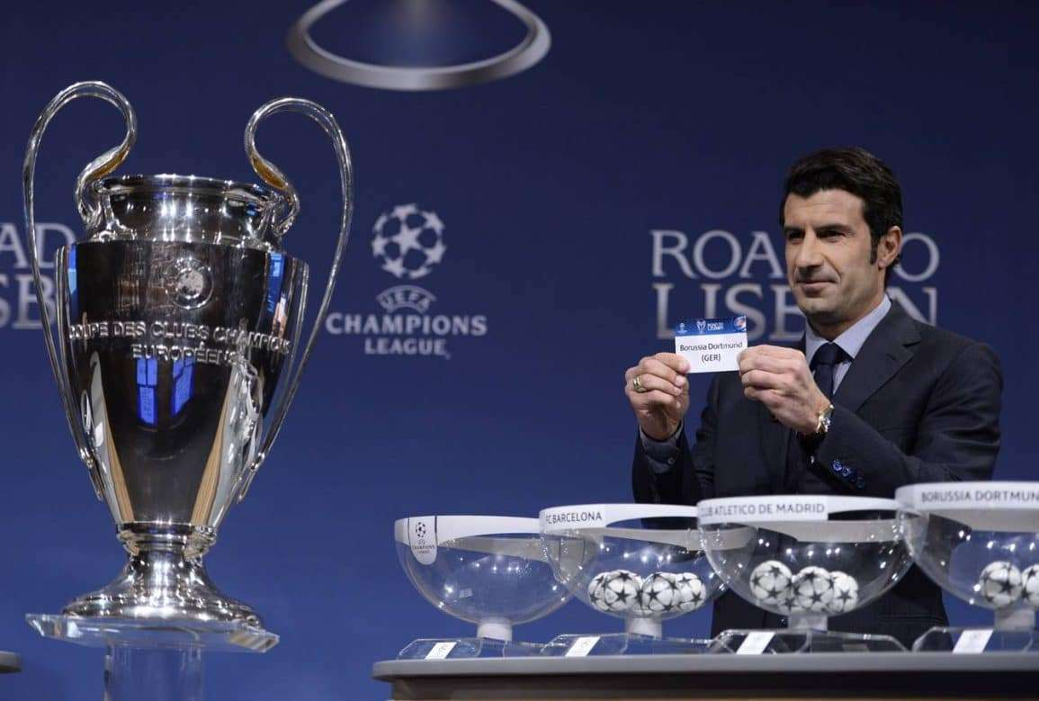Luis Figo sorteo UEFA Champions League