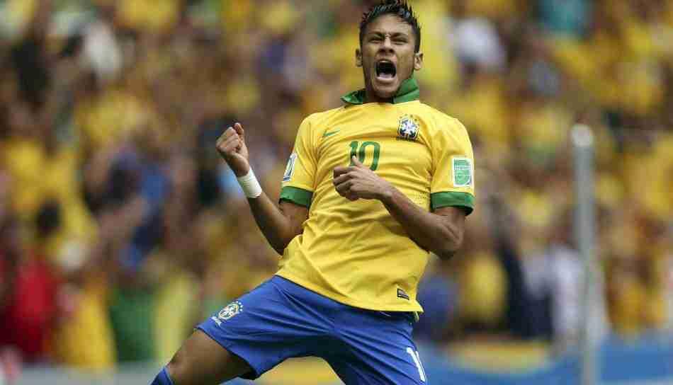 Neymar celebra gol Brasil