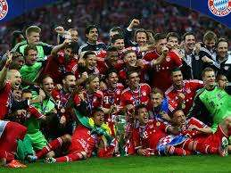 Bayer Munich celebrando Copa de Europa