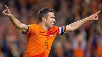 Robin Van Persie celebra gol Holanda