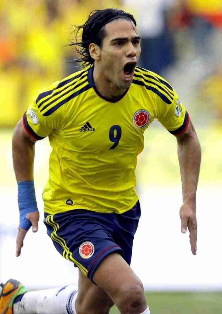 Falcao celebra gol Colombia