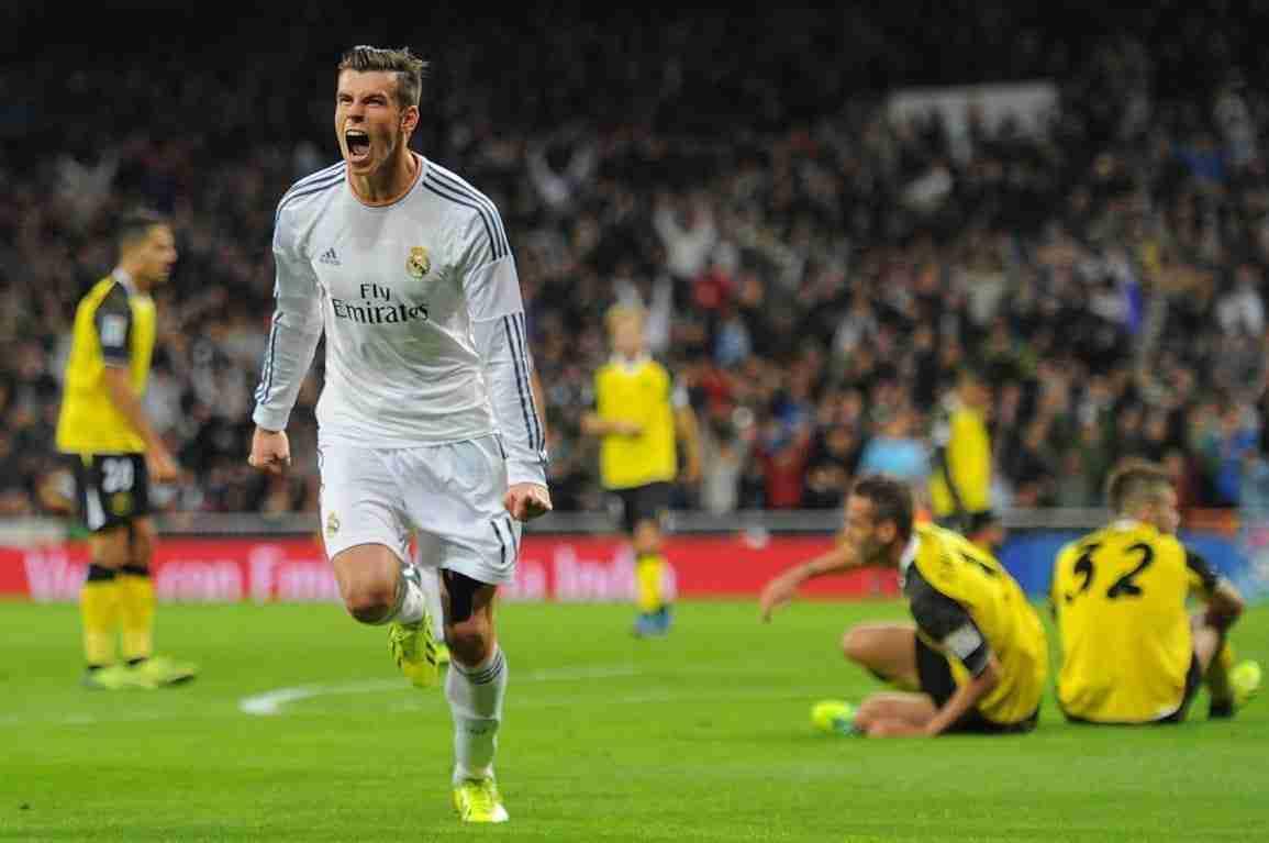 Gareth Bale celebra gol Real Madrid