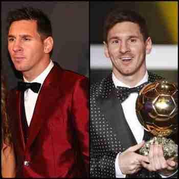 Messi en las dos últimas galas del Balón de Oro