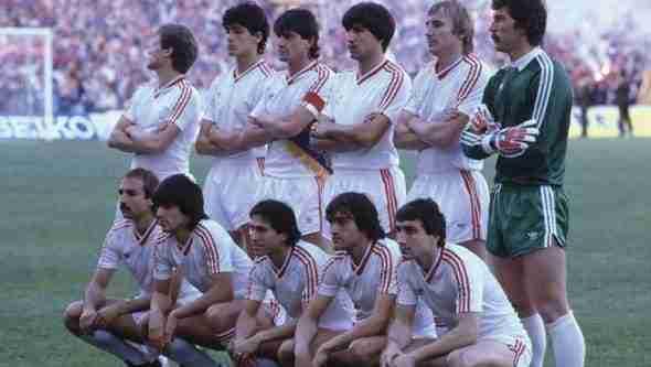 Alineación Steaua de Bucarest final Copa de Europa 1985/86