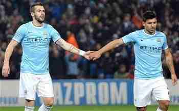 Negredo y Aguero Manchester City