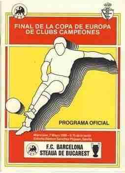 Programa oficial final F.C.Barcelona y Steaua de Bucarest