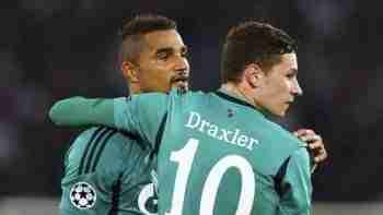 Boateng y Draxler celebran gol