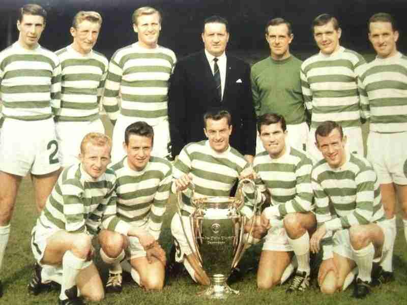 Celtic Glasgow posando con la ansiada Copa de Europa