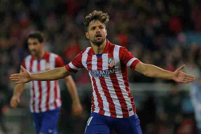 Diego celebra gol Atlético Madrid