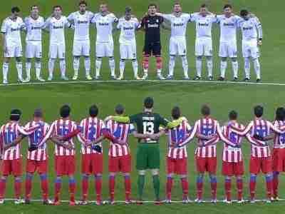 Minuto silencio Real Madrid Atlético de Madrid