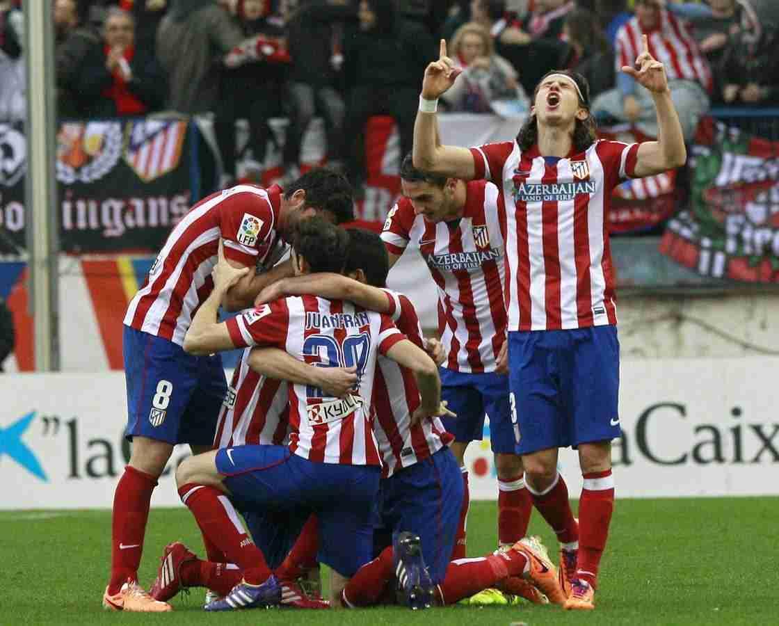 Celebración gol Atlético de Madrid