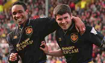 Roy Keane y Paul Ince Manchester United