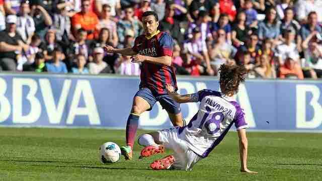 Pedrito en el partido contra el Valladolid