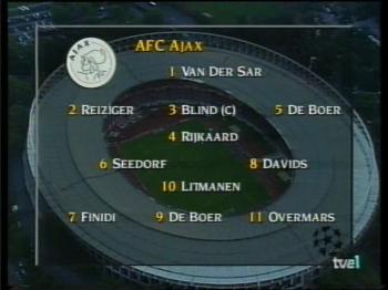 Alineación Ajax 1995