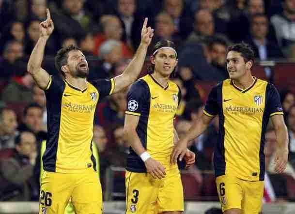 Diego celebra gol Atlético con Koke y Filipe