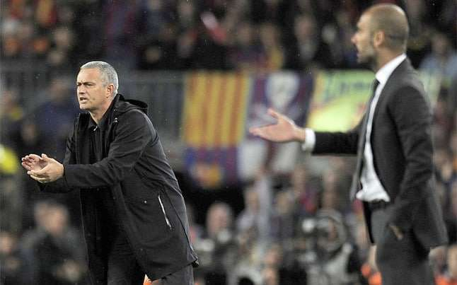 Mourinho y Guardiola Barcelona Madrid