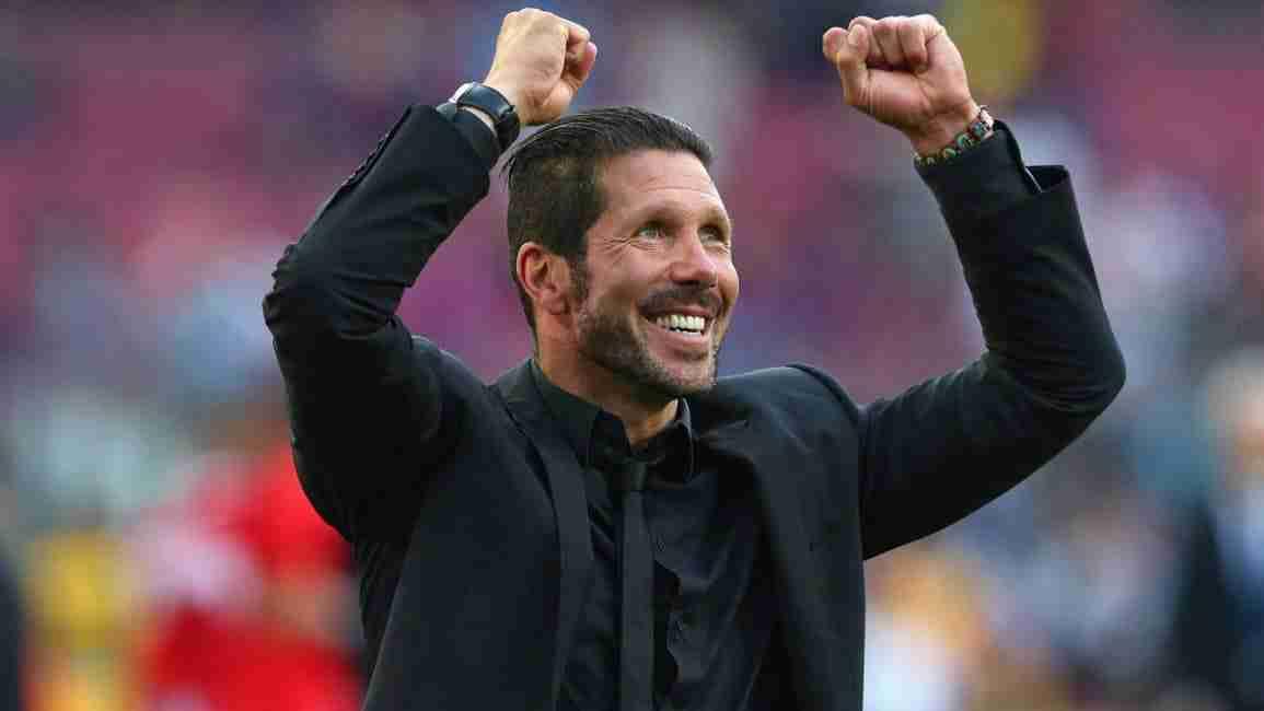 Cholo Simeone celebrando victoria