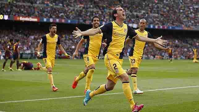 Godín celenra gol Liga Atlético de Madrid