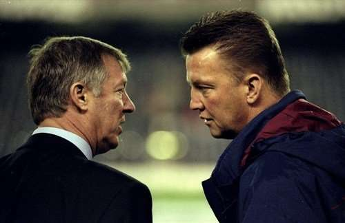 Sir Alex Ferguson y Louis Van Gaal