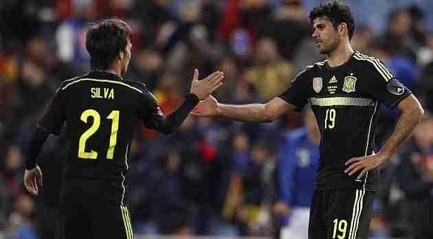 Silva y Diego Costa España