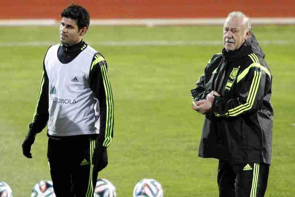 Diego Costa y Vicente del Bosque
