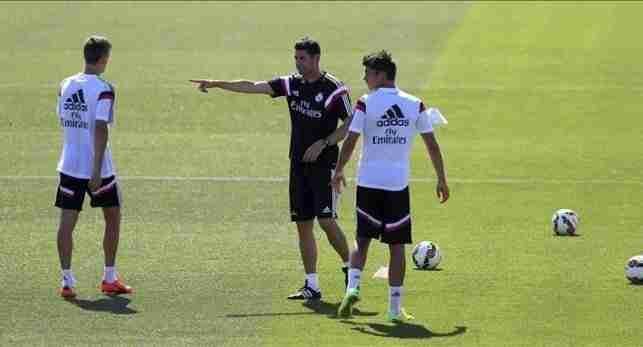Hierro entrenamiento Real Madrid