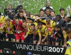 F.C. Sochaux celebra Copa de Francia 2007