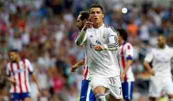 Cristiano celebra gol de penalti
