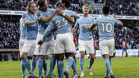 Malmö celebra gol