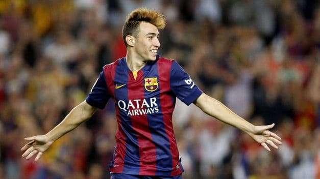 Muni celebra gol Barcelona